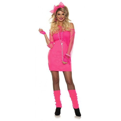 Totally 80's Neon Pink Dress
