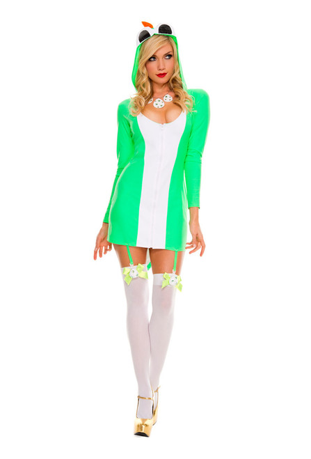 Hot Yoshi Hooded Dress Costume