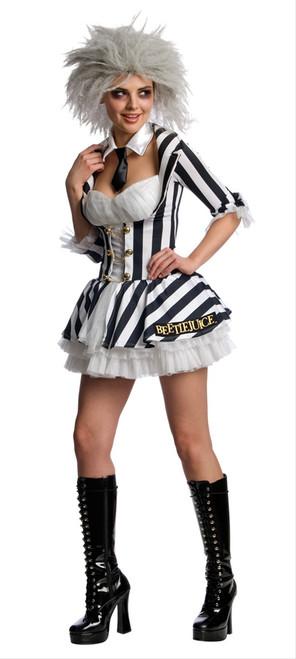 Ladies Sexy Beetlejuice Halloween Costume