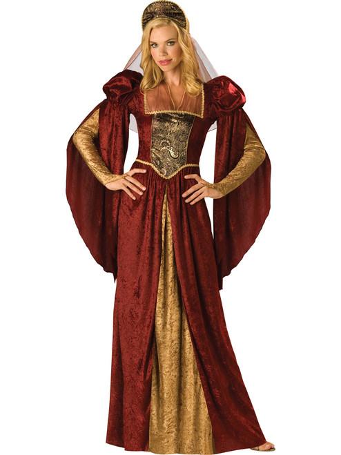 Burgundy Renaissance/Medieval Maiden Costume
