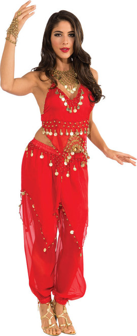 Red Belly Dancer Costume