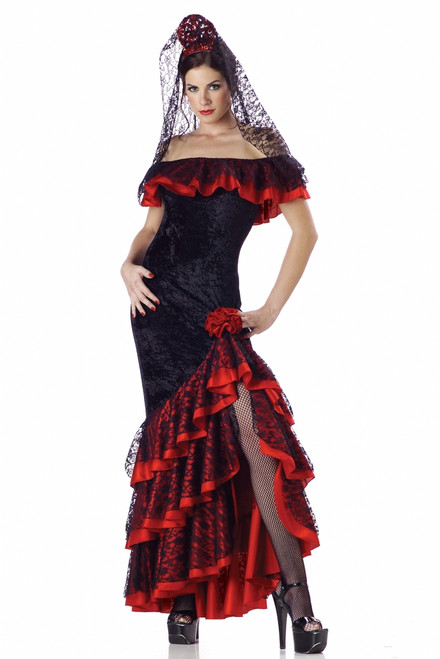 Deluxe Senorita Spanish Dancer Costume