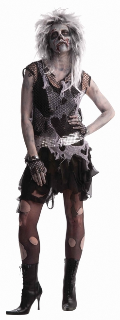 Scary 80s Halloween Punk Zombie Costume