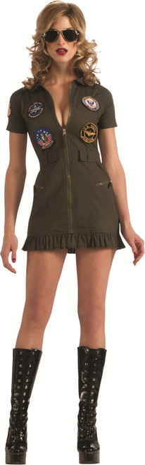 Top Gun Womens Flightsuit Sexy Costume