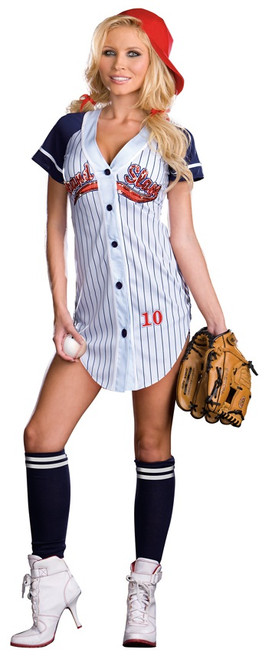 Ladies Grand Slam Sexy Baseball Uniform Costume