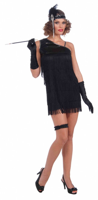 20s Black Diamond Dazzle Flapper Dress Costume