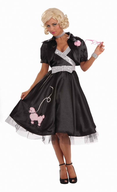 Ladies 1950s Poodle Glam Costume Dress
