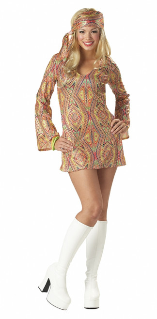 Disco Dolly 70s Gogo Dress