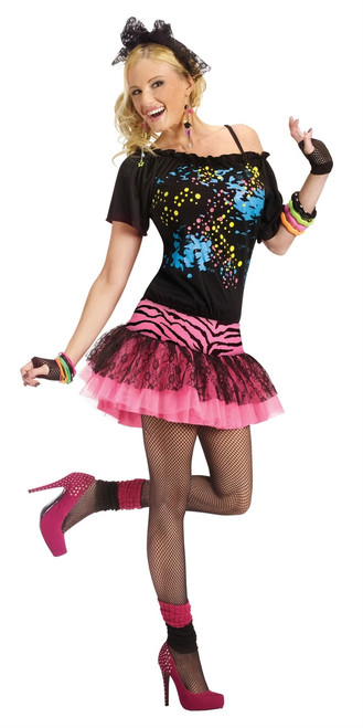 Retro 80s Pop Party Womens Costume