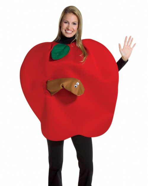 Apple With Worm Halloween Costume