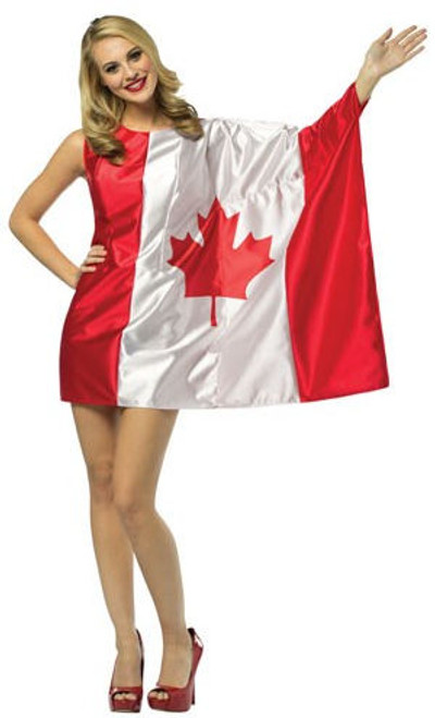 Canada Flag Dress Costume