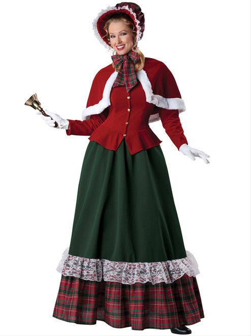 Yuletide Lady Christmas Caroling Costume
