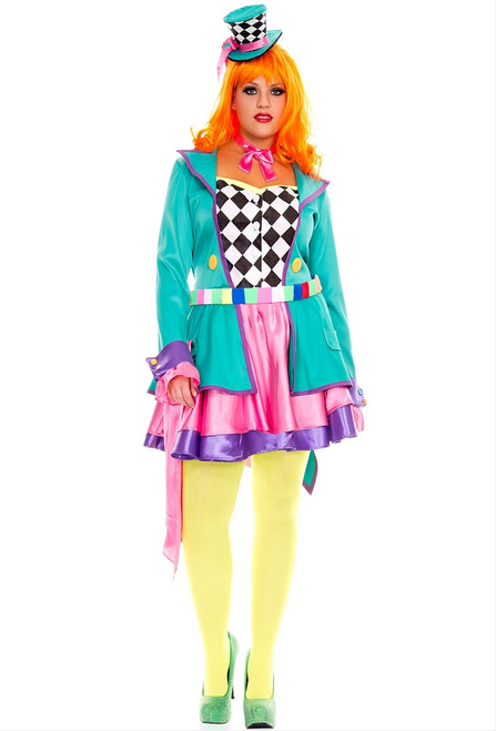 Hatter Hottie Wonderland Costume - Plus Size