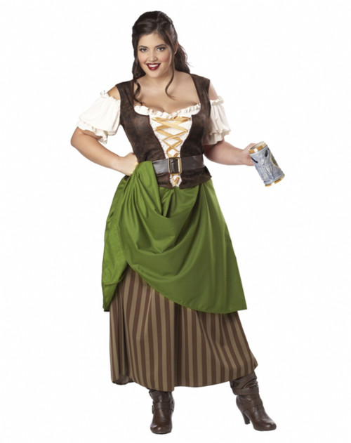 Medieval/Renaissance Tavern Maiden/Wench Costume - Plus Size