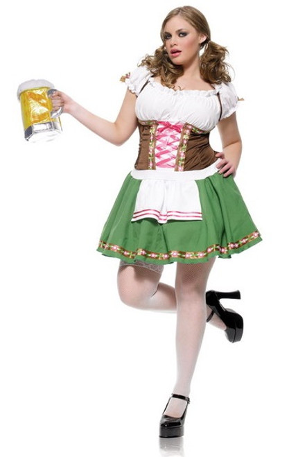 Gretchen Oktoberfest Bar Wench Costume - Plus Size