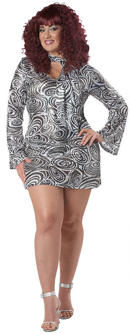Disco Diva Plus Size Go Go Dress
