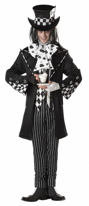 Dark Mad Hatter Wonderland Costume