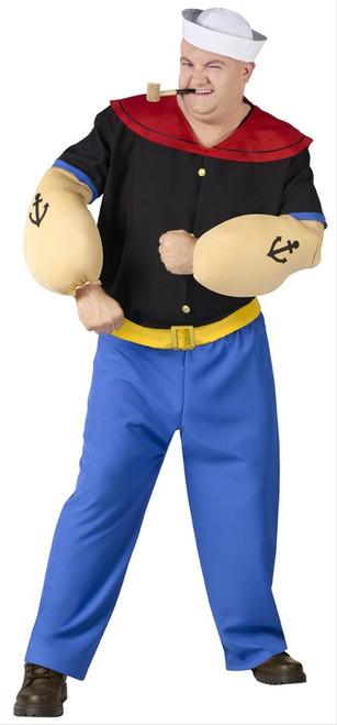 Big and Tall Plus Popeye Character Costume