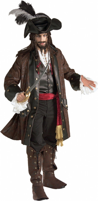Deluxe Caribbean Pirate Adult Costume