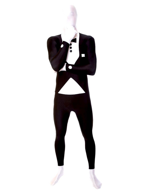 Tuxedo Print Morphsuit Full Body Costume