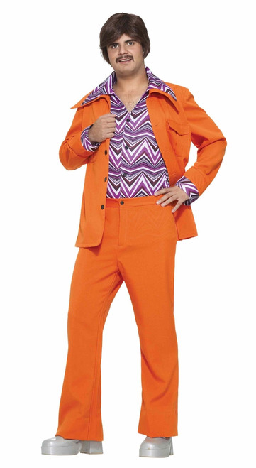 70s Orange Leisure Suit Costume