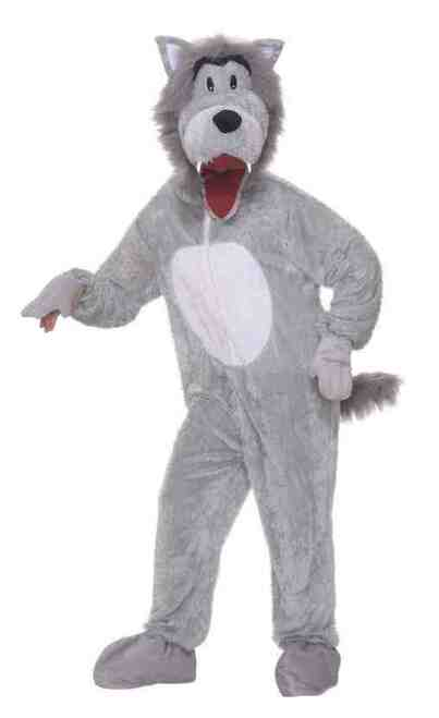Plush Storybook Wolf Mascot Costume