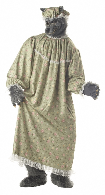 Red Riding Hood Granny Wolf Costume
