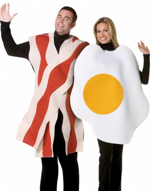Couples Bacon & Eggs Breakfast Costume