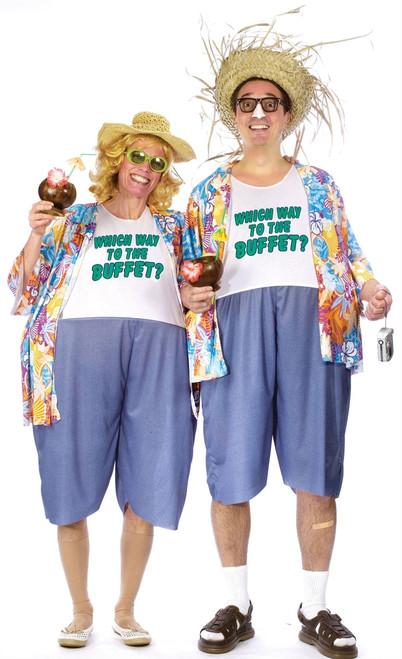 Tacky Traveler Fat Suit Costume