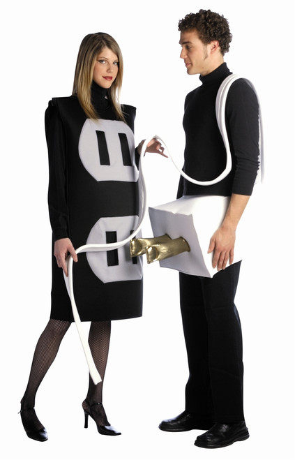 Funny Plug and Socket Couple's Costume