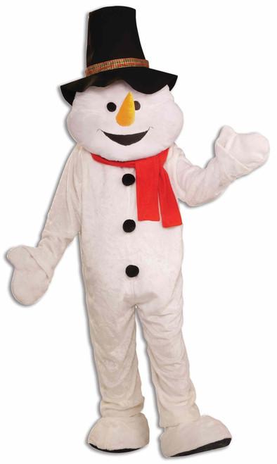 Deluxe Plush Snowman Mascot Costume