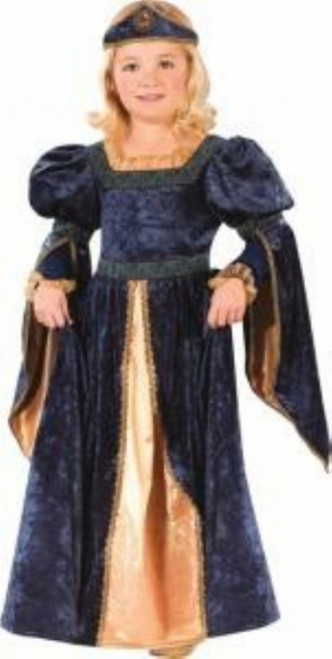 Toddler's Blue Renaissance Maiden/Princess Costume