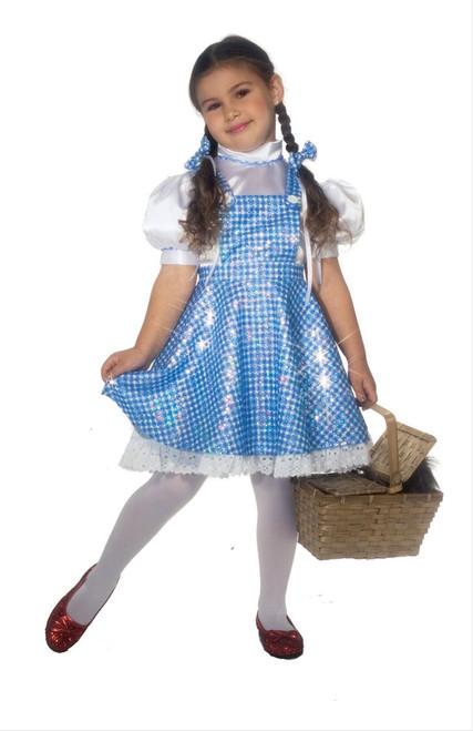 Children's Sequin Dorothy Wizard of Oz Costume