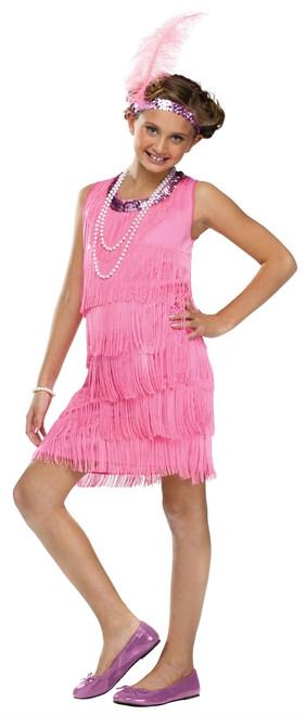 20s Pink Flapper Children's Costume