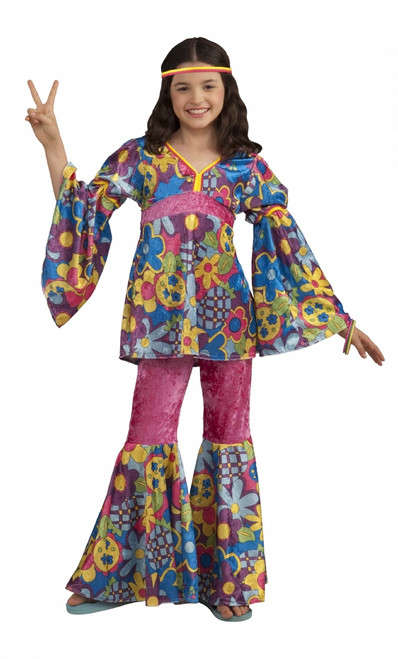 Retro 60s Hippie Flower Power Costume