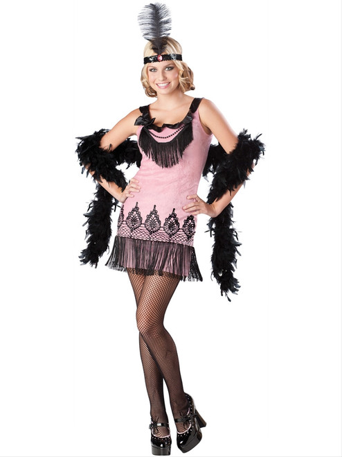 20s Flirty Flapper Teen Costume