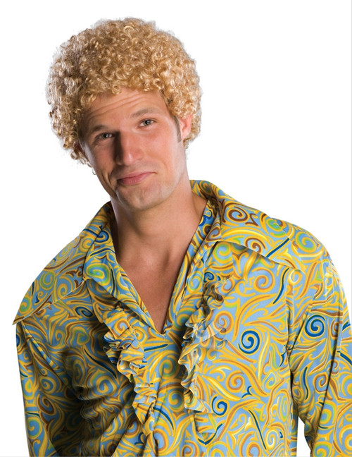 Blond Tight Afro Wig