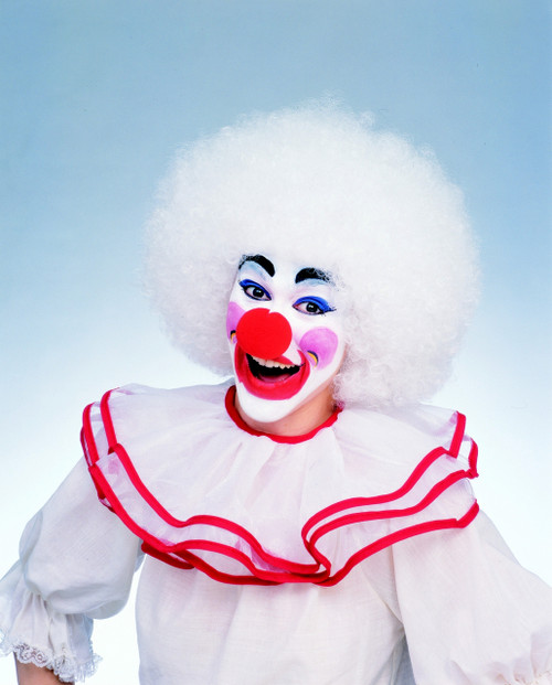 White Clown Afro Halloween Wig