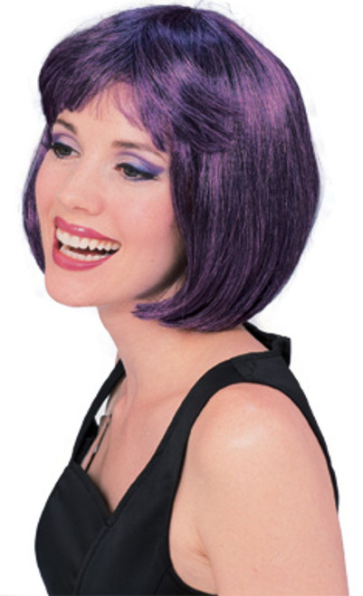 Dark Purple & Black Super Model Wig
