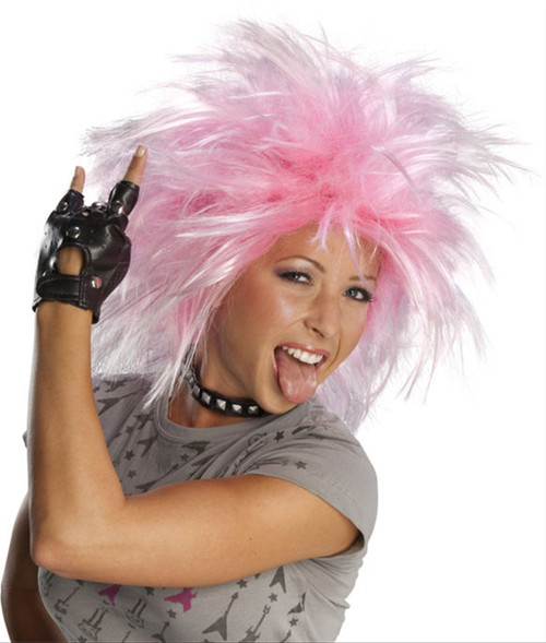 Funky Punk 80s Pink Wig