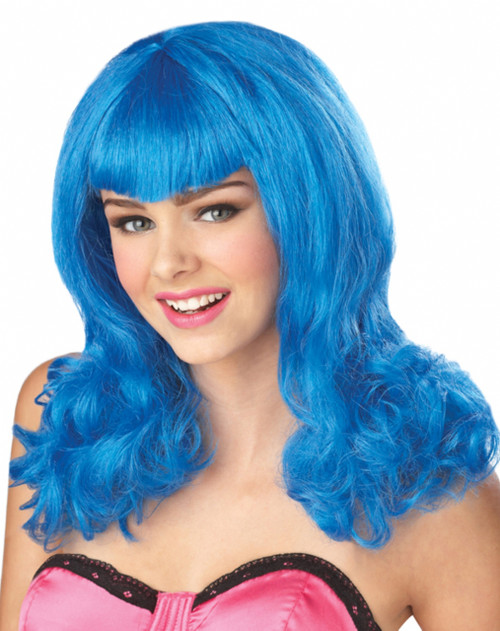 Teenage Dream Blue Costume Wig