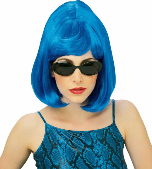 Blue Starlet Beehive Bob 60s Wig