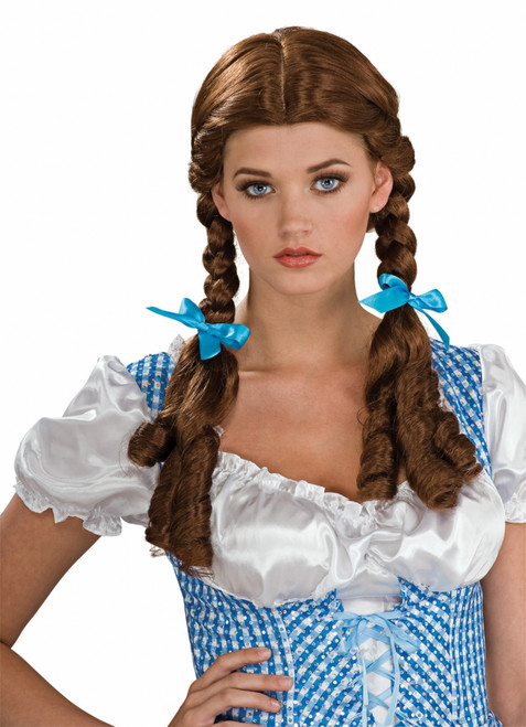 Dorothy Wizard Of Oz Braided Brown Wig
