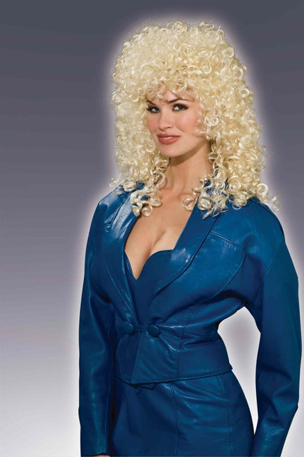 Wild Girl 80s Blonde Perm Wig