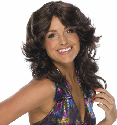 1970s style Brown Farrah Wig