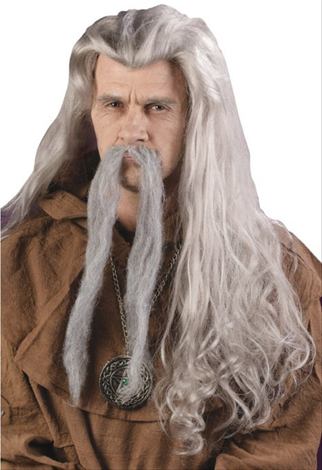 Long Grey Wizard Wig