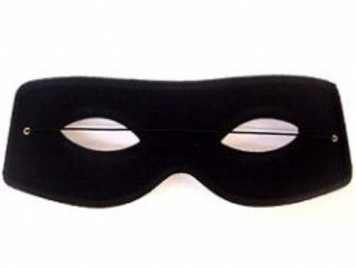 Black Zorro Costume Mask
