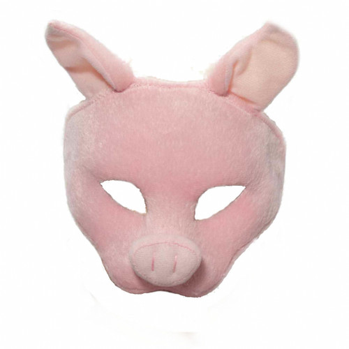 Pink Pig Half Face Animal Mask