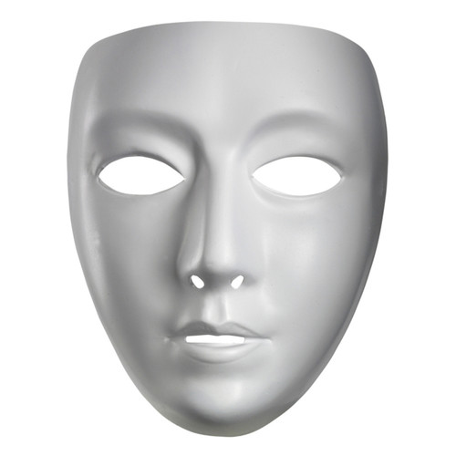 Blank Female Mime Mask
