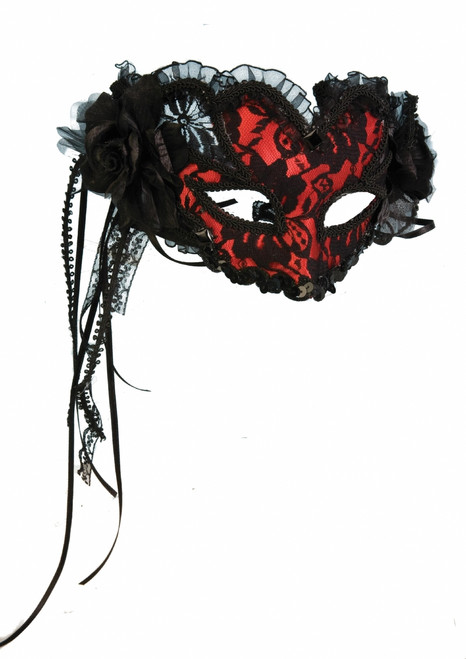 Red Lace Spanish Tango Mask